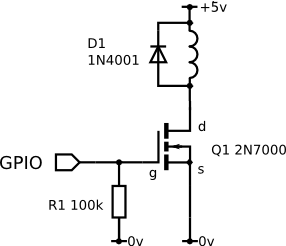 GPIO Mosfet Magnet Connection